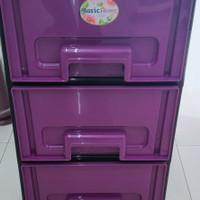 lemari plastik / laci plastik Alena susun 3 basic home from lion star