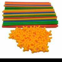 magic straw 200pc / mainan rancang bangunan 4 dimensi