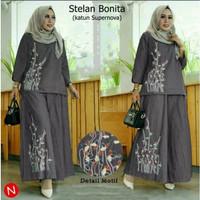 SMP Stelan Bonita (XXL 6 wrna) Stelan Baju Gamis&Celana Panjang Wanita