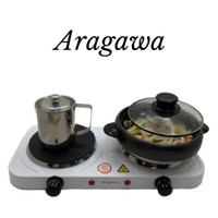 ARAGAWA Double Hot Plate - kompor listrik portable