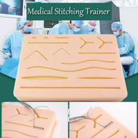 Model Kulit Silikon Pad Latih Jahit Luka Sutura Medis Hecting Suture