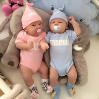 Set with Hat, Twins Jumper Double Trouble Baju Bayi Kembar
