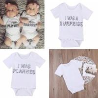 Onepiece Twins Jumper Baju Bayi Kembar Kado Lahiran Newborn Gift