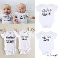 Onepiece Twins Baby Jumper Baju Bayi Kembar Jumpsuit Romper Import