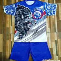 Setelan Baju Kaos celana Suporter Arema FC Aremania anak bayi balita 3