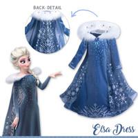 Baju pesta anak sz 4-8th dress anak cewek kostum Frozen Elsa winter