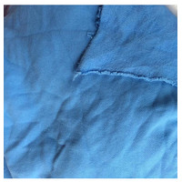 Kaos fleece biru benhur/kaos fleece/bahan meteran/bahan selimut