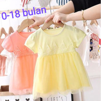 Dress Bayi Import Navisa / Gaun Bayi Perempuan / Baju Bayi Perempuan
