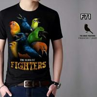 kaos cowok T-shirt distro burung fighter