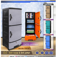 LEMARI PLASTIK LOCKER NAPOLLY CLC 55L K3 SAKURA MOTIF ROTAN
