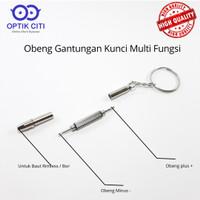 obeng kacamata set mini multifungsi gantungan kunci