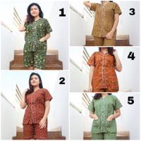 piyama wanita katun batik   Baju tidur batik celana pendek HP S-XXL