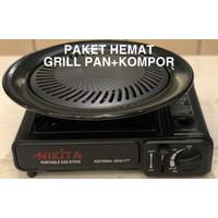 Maxim Ultra Grill Pan + Nikita Kompor Portable 2in1 (PAKET HEMAT)
