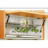 Rak piring kabinet stainless 70 cm / Dish Rak Gelas /rak kitchen set