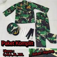 baju profesi TNI set lengkap kostum anak