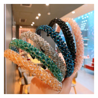 Bando crystal wanita korea bandana kristal polos crystal headband
