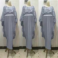 gamis brokat remaja/gaun pesta/baju kondangan ABG/maxi Muslimah/jumbo