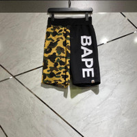 Celana pendek bape font half yellow army