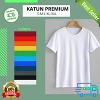 Kaos Polos Atasan Pria Wanita oblong pendek bahan katun Premium