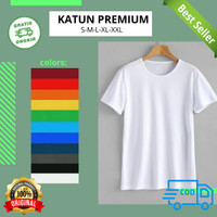 Kaos Polos Atasan Pria Wanita oblong pendek bahan katun Premium XXL