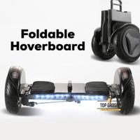 Hoverboard lipat foldable smart balance wheel 10 inch dengan pegangan