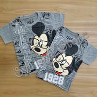 Baju Kaos Atasan Anak Laki Laki Cowok Disney Mickey Mouse Komik Abu