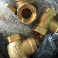 klep tabok kuningan / swing check valve kuningan PN 16 uk 1/2 inch