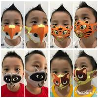 Masker Kain Scuba Anak Motif Hewan Lucu