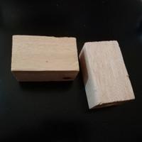 Kayu balsa balok 50mm x 50mm x 90mm balsa blok wooden craft