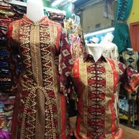 Setelan couple batik songket