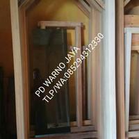 kusen pintu/jendela kayu mahoni