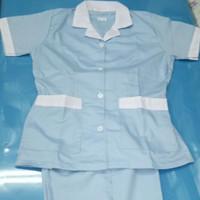 Baju Seragam Suster/Baby Sitter Celana Panjang Ukuran M