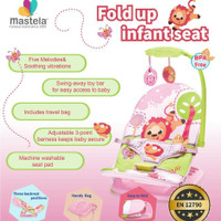 MASTELA Infant Seat with Hanger Toy and Travelbag, PINK - LION - 07220
