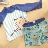 Preloved 1 set Baju renang cotton on kids