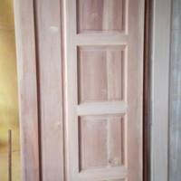 daun pintu kayu mahoni minimalis