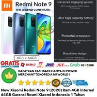 Xiaomi Redmi Note 9 4GB/64GB Redminote 9 4/64Gb Mi Note9 4/64 gb-Resmi