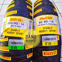 Paket Pirelli Diablo Rosso Sport ring 14 uk 90/80-14 & 100/80-14
