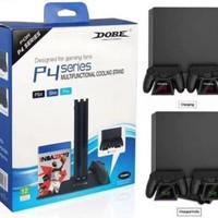 Kipas Pendingin Multifungsi PS4 Slim Pro Dengan LED Indikator Dobe