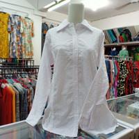 Kemeja Wanita Putih Ukuran Big Size   Atasan Baju Wanita Ukuran Jumbo