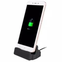 Carger hp berdiri stand dock Untuk smartphone type c dan micro USB