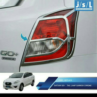 garnish list cover lampu belakang Datsun GO Chrome