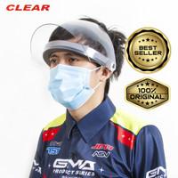 Face shield / pelindung muka merek clear bahan POLYCARBONATE