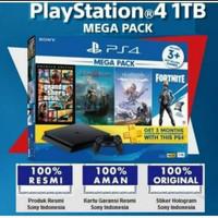 Playstation 4 Slim 1TB Mega Pack 2 Resmi Sony INDONESIA