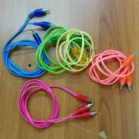 Kabel aux 2in1 / Jack 3.5mm audio RCA 2 in 1 Cable hp ke speaker aktif