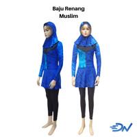 pakaian renang wanita muslimah biru lengkap | kerudung renang