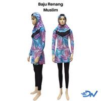 baju renang muslimah dewasa lengkap | kerudung renang | celana panjang
