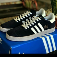 sepatu Adidas Gazelle Grade Original hitam garis putih/Adidas Original