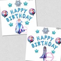 SET balon foil frozen / balon elsa happy birthday ulang tahun dekorasi