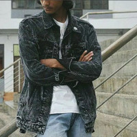 jaket jeans LEVIS PRIA HITAM / jaket LEVIS BIG SIZE HITAM XXL XXXL