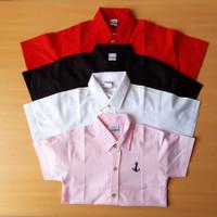 Kemeja anak laki laki / cowok import warna pink/merah/hitam/putih .